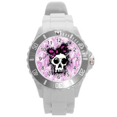 Sketched Skull Princess Plastic Sport Watch (large)
