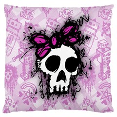 Sketched Skull Princess Large Cushion Case (Two Sided)