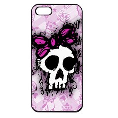 Sketched Skull Princess Apple iPhone 5 Seamless Case (Black)