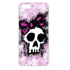 Sketched Skull Princess Apple iPhone 5 Seamless Case (White)