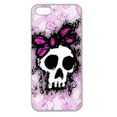 Sketched Skull Princess Apple Seamless iPhone 5 Case (Clear)