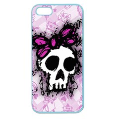 Sketched Skull Princess Apple Seamless Iphone 5 Case (color)