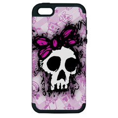 Sketched Skull Princess Apple iPhone 5 Hardshell Case (PC+Silicone)