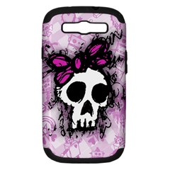 Sketched Skull Princess Samsung Galaxy S III Hardshell Case (PC+Silicone)