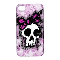 Sketched Skull Princess Apple Iphone 4/4s Hardshell Case With Stand by ArtistRoseanneJones