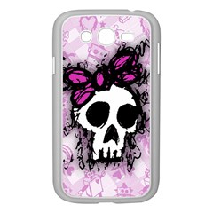 Sketched Skull Princess Samsung Galaxy Grand DUOS I9082 Case (White)
