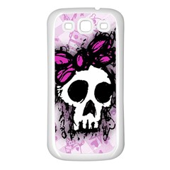 Sketched Skull Princess Samsung Galaxy S3 Back Case (White)