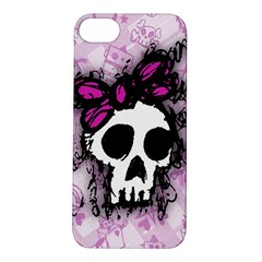Sketched Skull Princess Apple Iphone 5s Hardshell Case by ArtistRoseanneJones