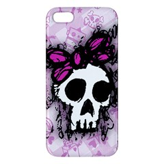 Sketched Skull Princess iPhone 5S Premium Hardshell Case