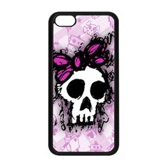 Sketched Skull Princess Apple iPhone 5C Seamless Case (Black)