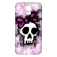Sketched Skull Princess Samsung Galaxy S5 Back Case (White)