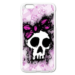 Sketched Skull Princess Apple Iphone 6 Plus Enamel White Case by ArtistRoseanneJones