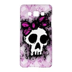 Sketched Skull Princess Samsung Galaxy A5 Hardshell Case  by ArtistRoseanneJones