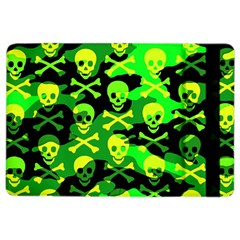 Skull Camouflage Apple Ipad Air 2 Flip Case by ArtistRoseanneJones