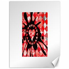 Love Heart Splatter Canvas 36  X 48  (unframed) by ArtistRoseanneJones