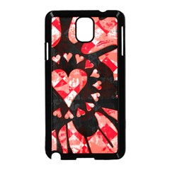 Love Heart Splatter Samsung Galaxy Note 3 Neo Hardshell Case (black) by ArtistRoseanneJones