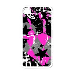 Pink Scene Kid Apple Iphone 4 Case (white) by ArtistRoseanneJones