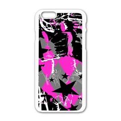 Pink Scene Kid Apple Iphone 6 White Enamel Case by ArtistRoseanneJones