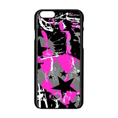 Pink Scene Kid Apple Iphone 6 Black Enamel Case by ArtistRoseanneJones