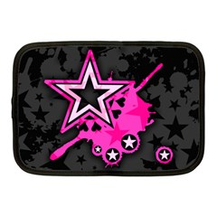 Pink Star Graphic Netbook Sleeve (medium) by ArtistRoseanneJones
