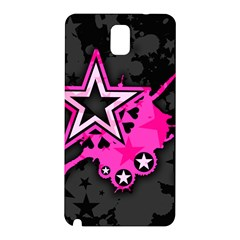 Pink Star Graphic Samsung Galaxy Note 3 N9005 Hardshell Back Case by ArtistRoseanneJones