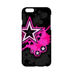 Pink Star Graphic Apple Iphone 6 Hardshell Case by ArtistRoseanneJones