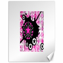Pink Star Splatter Canvas 36  X 48  (unframed) by ArtistRoseanneJones