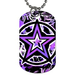 Purple Star Dog Tag (one Sided) by ArtistRoseanneJones