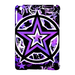 Purple Star Apple Ipad Mini Hardshell Case (compatible With Smart Cover) by ArtistRoseanneJones