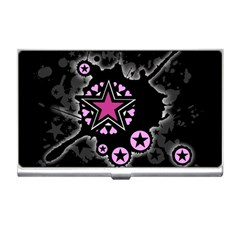 Pink Star Explosion Business Card Holder