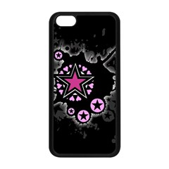 Pink Star Explosion Apple Iphone 5c Seamless Case (black) by ArtistRoseanneJones