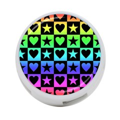 Rainbow Stars And Hearts 4 Port Usb Hub (two Sides) by ArtistRoseanneJones