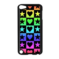 Rainbow Stars And Hearts Apple Ipod Touch 5 Case (black) by ArtistRoseanneJones