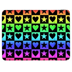 Rainbow Stars And Hearts Samsung Galaxy Tab 7  P1000 Flip Case