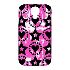 Star And Heart Pattern Samsung Galaxy S4 Classic Hardshell Case (pc+silicone) by ArtistRoseanneJones