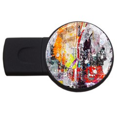 Abstract Graffiti 2gb Usb Flash Drive (round) by ArtistRoseanneJones