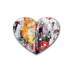 Abstract Graffiti Drink Coasters (heart)