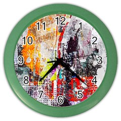 Abstract Graffiti Wall Clock (color) by ArtistRoseanneJones