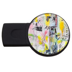 Graffiti Graphic 4gb Usb Flash Drive (round) by ArtistRoseanneJones