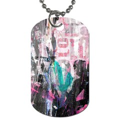 Graffiti Grunge Love Dog Tag (two Sided)