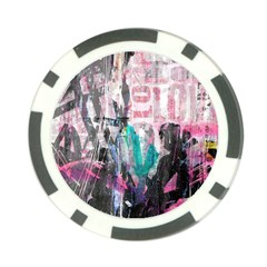 Graffiti Grunge Love Poker Chip (10 Pack) by ArtistRoseanneJones
