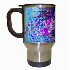 Graffiti Splatter Travel Mug (white) by ArtistRoseanneJones