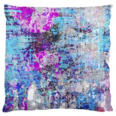 Graffiti Splatter Large Cushion Case (single Sided)  by ArtistRoseanneJones
