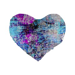 Graffiti Splatter Standard 16  Premium Heart Shape Cushion  by ArtistRoseanneJones