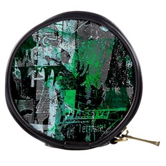 Green Urban Graffiti Mini Makeup Case by ArtistRoseanneJones