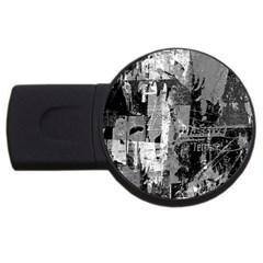 Urban Graffiti 4gb Usb Flash Drive (round) by ArtistRoseanneJones