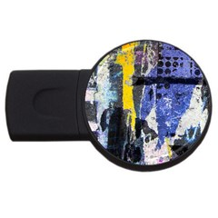 Urban Grunge 2gb Usb Flash Drive (round) by ArtistRoseanneJones