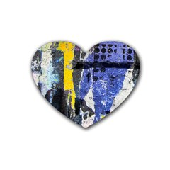 Urban Grunge Drink Coasters 4 Pack (heart)