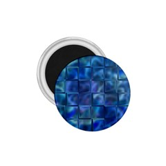 Blue Squares Tiles 1 75  Button Magnet by KirstenStar