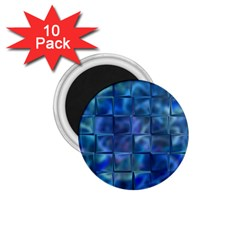 Blue Squares Tiles 1 75  Button Magnet (10 Pack) by KirstenStar